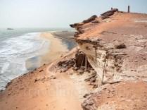 acantilado de pesca en mauritania