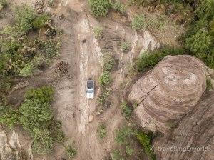 Nuestro Land Cruiser en las Domes de Fabedougou