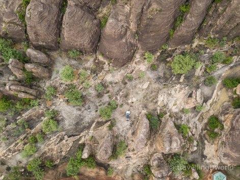 Vista aérea de las Domes de Fabedougou en Burkina Faso