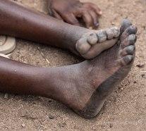 pintura en los pies, Burkina Faso