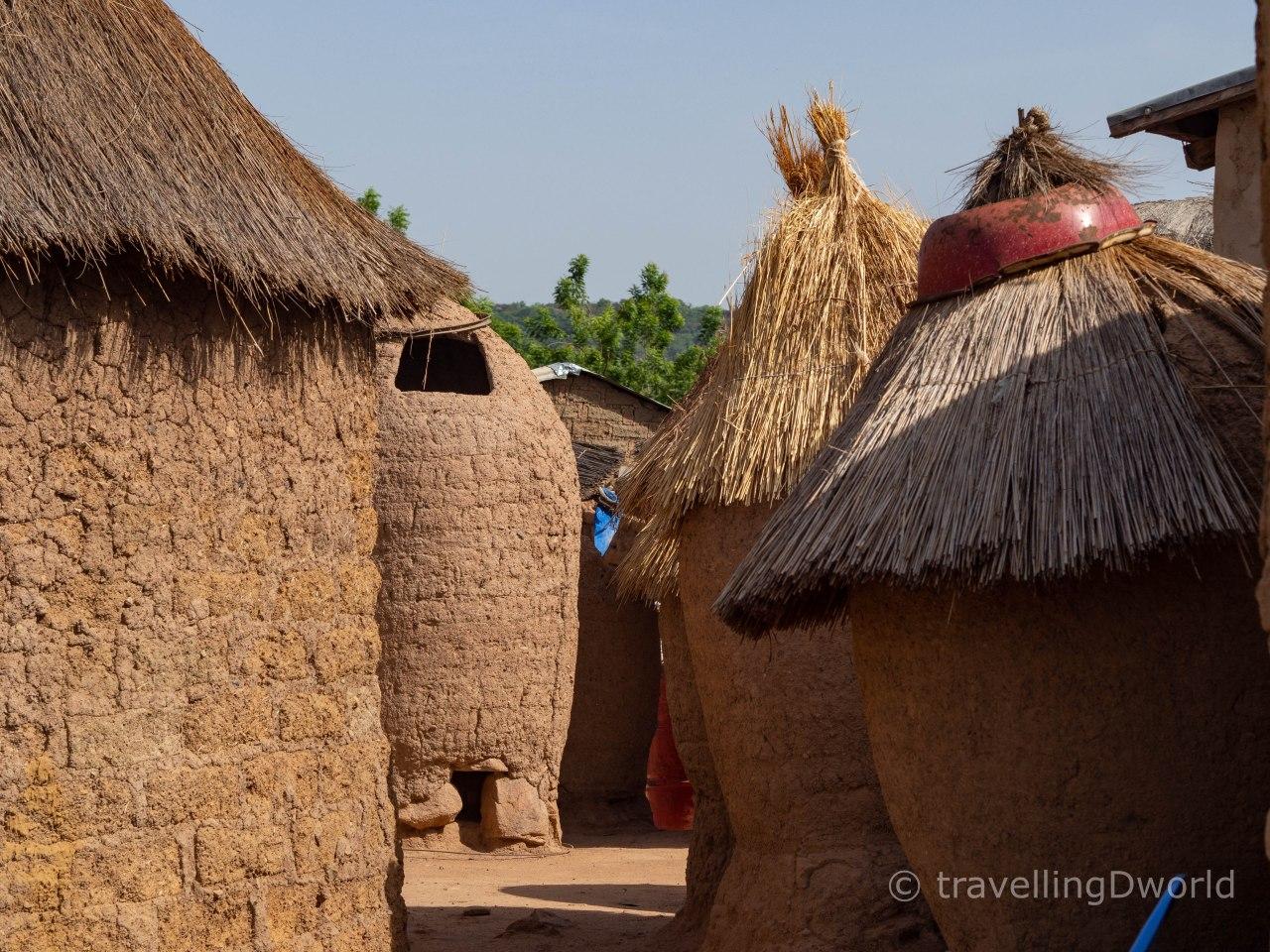 Casas tradicionales en Burkina Faso