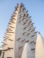 Detalles de la Mezquita Sudanesa de Bobo Dioulasso