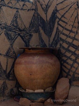 detalles de las casas de Tiebelé
