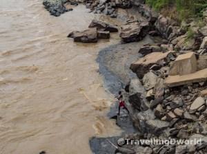 Pescador en río Niger