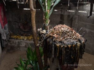 Altar para una ceremonia Vudú en Grand popo, Benín