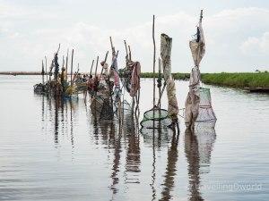 Pescadores en Ganvié, Benín