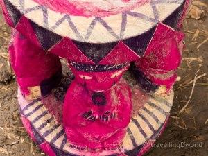 Asiento tradicional en mercado de Benin
