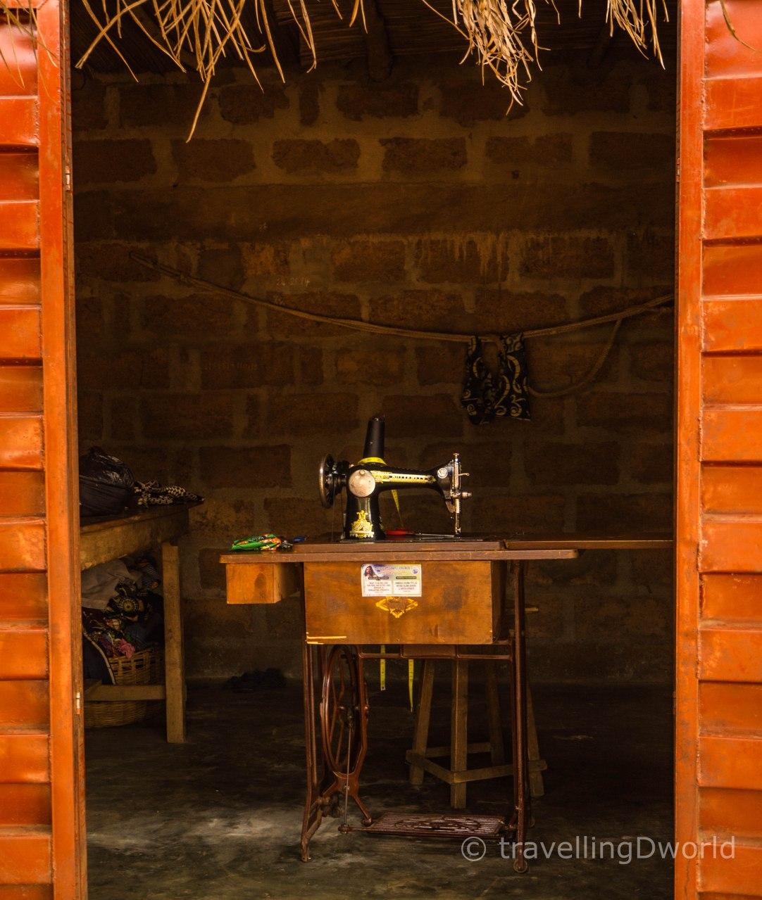 Taller de costura en Onigbolo, Benin