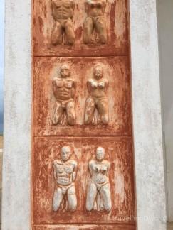 Detalle de una representación del Esclavismo en Ouiza, Benín