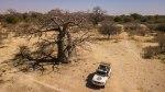 Nuestro LandCruiser debajo del Baobab