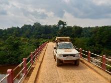 Puente de camino a la Lopé en Gabón