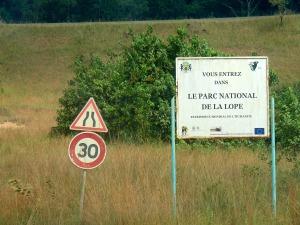 entrada al Parque Nacional de la Lopé en Gabón